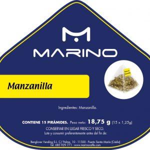 Té «Manzanilla» Pirámides de flores enteras