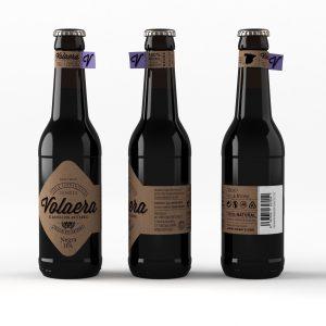 Cerveza artesanal «Volaera» Negra IPA 12 Unidades 33CL Tercio