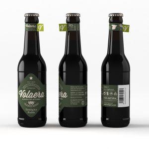 Cerveza artesanal «Volaera» Ecológica Rubia 12U 33CL tercio