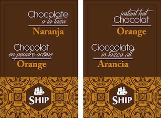 Chocolate a la taza con Naranja. Caja de 10 Unidades