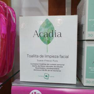 Paños Acadia, caja de dos toallitas de limpieza facial ecológica