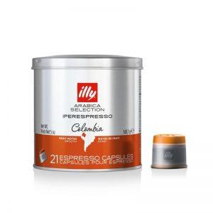 Illy Cápsulas café Iperespresso monoorigen Colombia 21 capsulas
