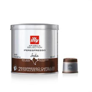 illy Cápsulas de café Iperespresso monoorigen India lata 21 cápsulas